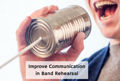 Improve communication in your band rehearsal. Great tips from an experienced director! Visit Band Directors Talk shop for more great band rehearsal techniques and ideas! #banddirectorstalkshop