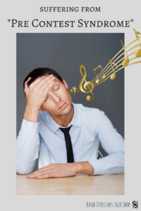"""Are you suffering from """"Pre-Contest Syndrome?"""" If you are a band director, choir director or orchestra teacher, you can definitely relate to this article! This funny list of 31 symptoms is sure to make you laugh as you get through the stressful time of preparing your students and ensemble for their many music competitions. #banddirectorproblems #musicteacherproblems #choirdirector #orchestradirector"""