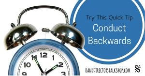 Conduct Backwards