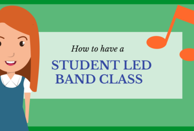 Student leading a band class