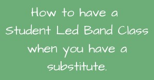 Student Led Band Class