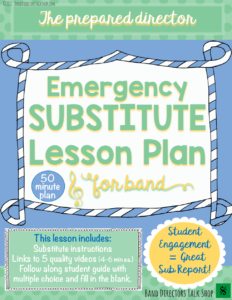 Beginning band and upper elementary music substitute lesson plan. Great for middle school grades 6th, 7th, 8th and 9th. Click here for the FREE plan!