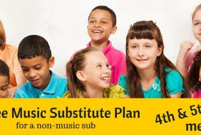 Music substitute lesson plan