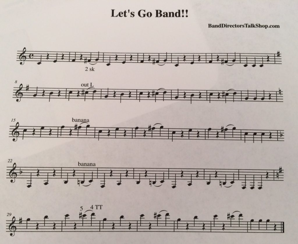 """Let's Go Band"" for clarinet"