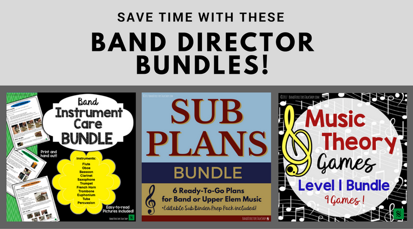 Saved time and money with these fantastic band director bundles! Visit Band Directors Talk Shop on Teachers Pay Teachers. #banddirectorstalkshop