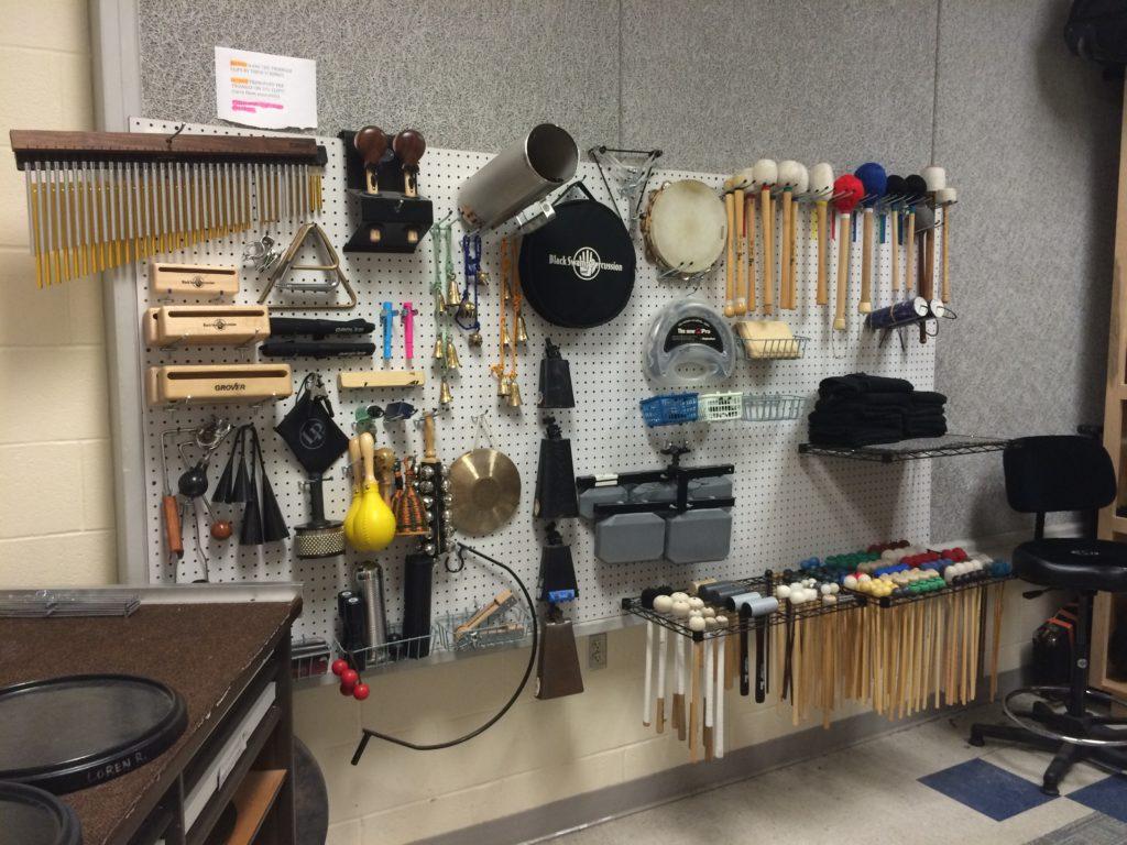 percussion room organization