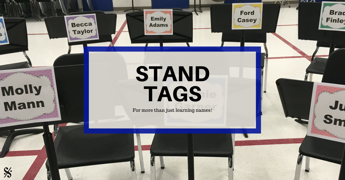 stand tags for more than just learning names band directors talk