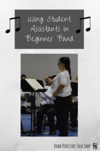 Teaching beginning band can be a challenge! Directors, take advantage of your wonderful student leaders and give them a job! Learning how in this article. By putting your middle school band leaders to work, this will eliminate stress for you!These band assistants can help with jobs such as sectionals, band warmups, classroom organizationa and so much more! #beginning band #band director #band teacher #band officers #beginning band ideas #beginning band