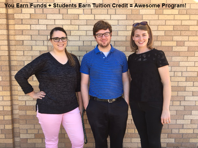 Wilson & Young Middle School raised over $8,000 with GAO this year. Band Directors Whitney Rutledge, Tyler Owen and Channing Freeman love that their students had the opportunity to also earn Tuition Rewards Credits.