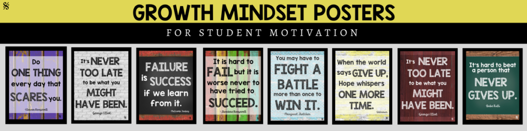 Growth Mindset Motivational Posters for bulletin board ideas! Get more great resources from Band Directors Talk Shop on Teachers Pay Teachers! #banddirectorstalkshop
