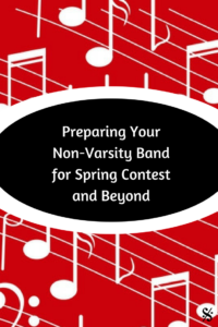Having trouble deciding how to prepare your non-varsity band for spring band contest?  This article is for you!  Great advice such as how to choose music, ways to motivate your students to practice, ideas for pass-offs including scale patterns, sight reading, lips slurs, and/or chromatic exercises.  A must read for band teachers, including middle school and high school directors.