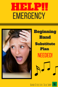 Do you need a great substitute music lesson plan for your unplanned teacher absences? Do you often have a non-music sub? This plan is for you! This music sub plan has activities perfect for middle school band, choir, orchestra and upper elementary music teachers and directors. Visit Band Directors Talk Shop for more fun band teaching ideas, beginning band ideas, concert band rehearsal techniques, free music sub plans, warm-ups, recruiting tips, motivation strategies and more!