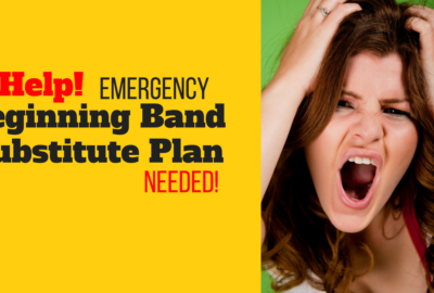 beginning band substitute plan