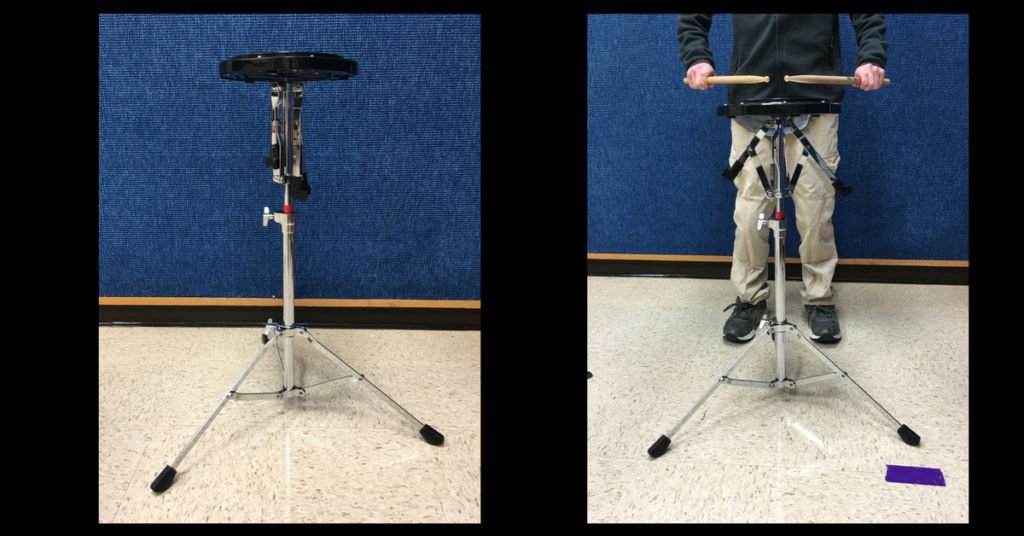 Learn how to better teach your beginning percussion class with the use of electrical tape!  Band directors and percussion teachers will learn 4 ways to use tape for creating visuals for their percussion students. Instrument height, fulcrum and grip placement, playing position and playing area are all discussed in this article packed full of percussion teaching tips. Perfect for beginning band directors!