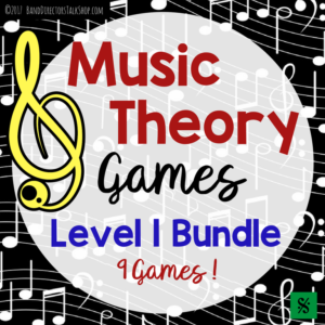 Music Theory Games Bundle for band, choir, orchestra and upper elementary music