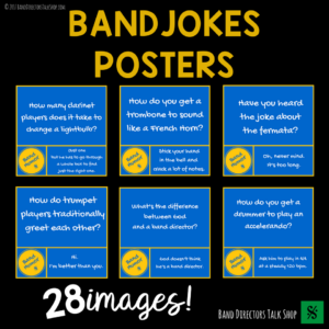 Instrument Jokes Posters Set!  Great for your band or elementary music room bulletin boards!  You and your students will enjoy a good laugh and add humor to your music room with these fun posters!
