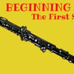 Beginning oboe the first sound