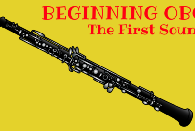 Beginning oboe the first sound