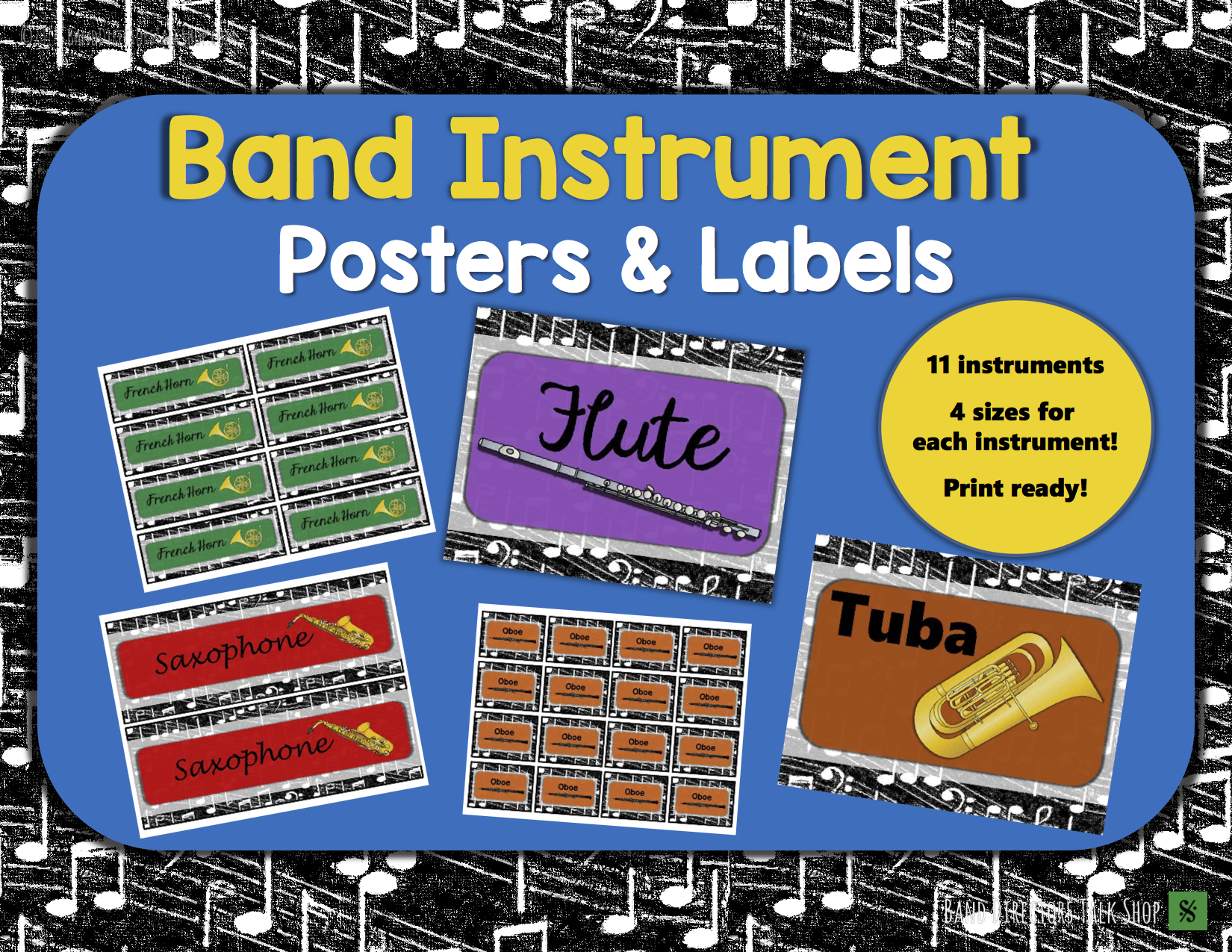 band instrument posters