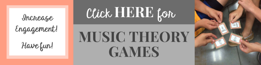FUN music theory games for band, choir, orchestra or upper elementary music! Make learning music theory fun!