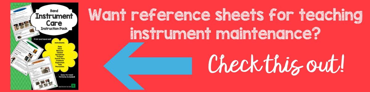 Oboe instrument maintenance