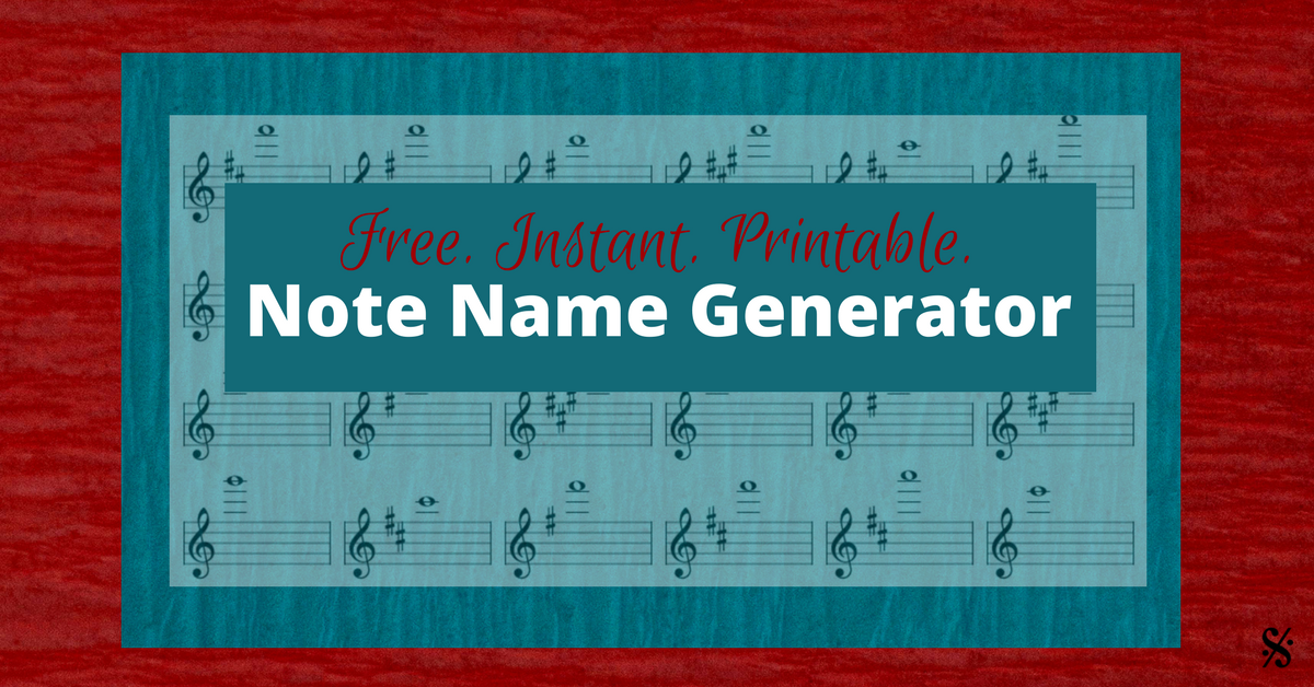 Free Note Name Generator (You will LOVE this!) - Band Directors Talk ...