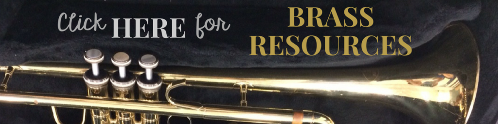 Brass instrument resources for your band program