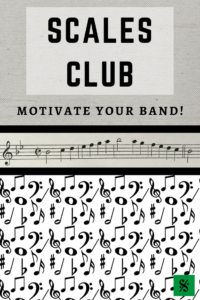 Scales Club- ideas for motivating your students to practice their scales! Great for beginning band or concert band kids. Visit BandDirectorsTalkShop.com for more great articles. #banddirectorstalkshop