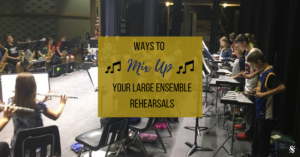 "Do you need a change of pace in your band rehearsal? Is your routine getting old? Click here to learn how to have a ""mix it up"" day in your music classroom! Get students outside of their familiar ""bubbles"" and implement some of the fun ideas suggested in this article such as letting students change chairs, the director conducting from a different part of the room, having the students rehearse in a circle, have a silent rehearsal, and much more! For great band teaching ideas, rehearsal tips and beginning band methods and games, visit Band Directors TalkShop.com!"
