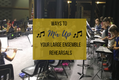 """Do you need a change of pace in your band rehearsal? Is your routine getting old? Click here to learn how to have a """"mix it up"""" day in your music classroom! Get students outside of their familiar """"bubbles"""" and implement some of the fun ideas suggested in this article such as letting students change chairs, the director conducting from a different part of the room, having the students rehearse in a circle, have a silent rehearsal, and much more! For great band teaching ideas, rehearsal tips and beginning band methods and games, visit Band Directors TalkShop.com!"""