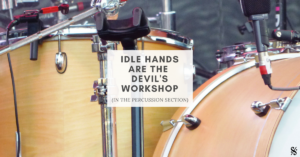 Keeping the percussion section busy during band rehearsal is important. Helpful tips and tricks for band directors!