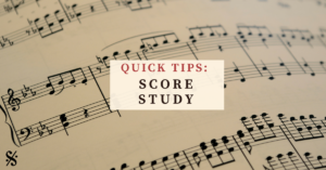 Is score study a struggle for you? Is it something you want to improve but don't know how? This article provides some great tips and tricks! Topics such as exploring music form and structure, analyzing key areas and cadential moments, dynamics, articulation, and much more are discussed. These tips will help you be a better band director and have a more effective band rehearsal. Visit Band Directors Talk Shop for more fun band teaching ideas!